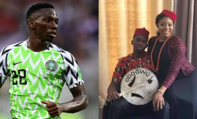 Super Eagle's defender vacates camp to be with wife