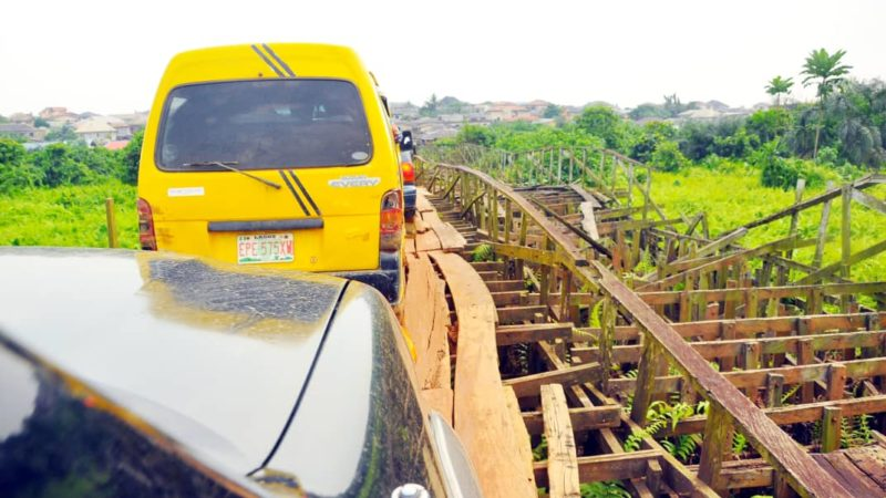 Revealed: Why motorists prefer plying dangerous plank bridge instead of road in Lagos