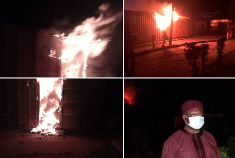 Fire guts INEC office, burns 5,141 card readers for Ondo governorship election