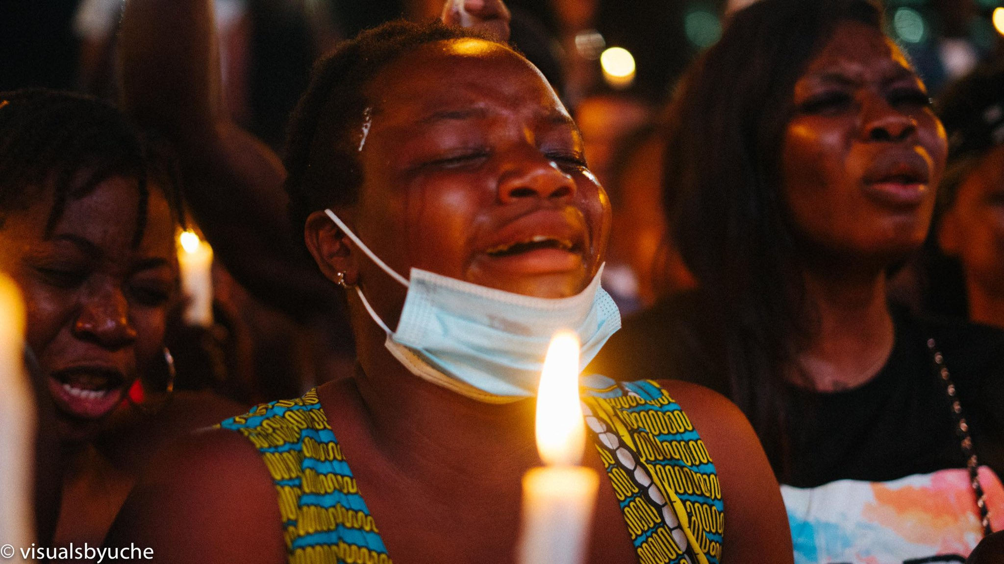 Outburst of Tears as #EndSARS protesters hold candle night for dead victims of SARS