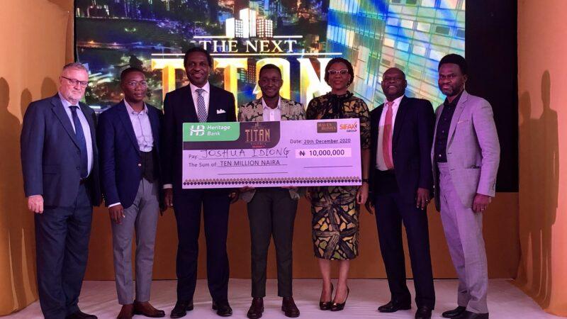 Heritage Bank empowers The Next Titan Season-7 winner with N10m