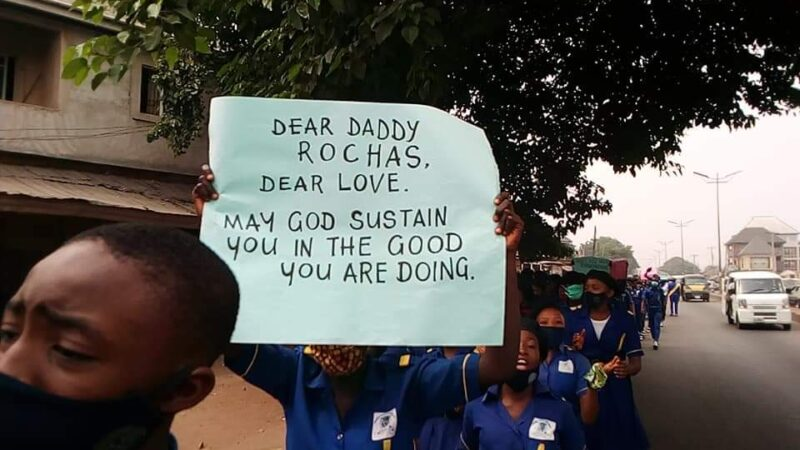 Students protest ex-Imo State governor, Okorocha's arrest