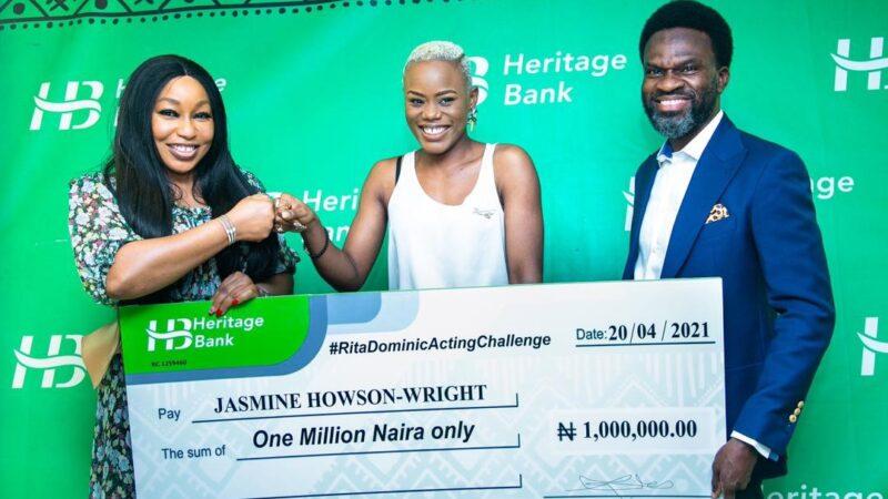 Heritage Bank boosts Nigeria's creative industry, rewards winners of 'Rita Dominic Acting Challenge'