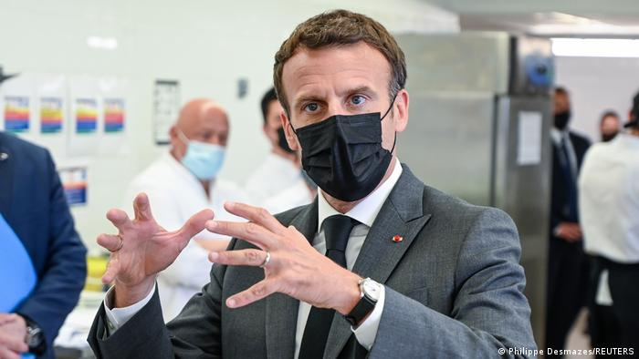 French President, Macron, slapped during trip to southeast France (Video)