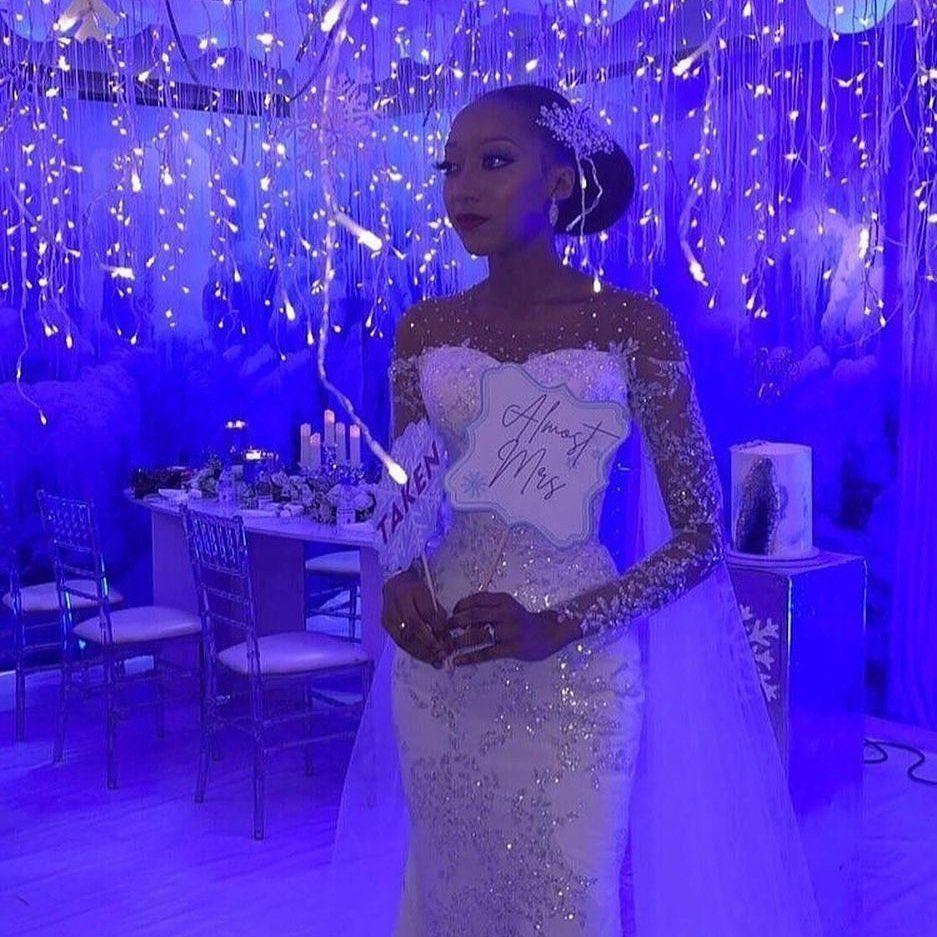 'Sharia on sabbatical' tweep reacts to dress worn by Zahra Ado-Bayero, President Buhari's son's fiancee (In Photos)