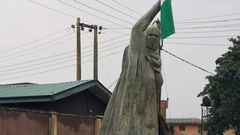 'I am speechless', Aisha Yesufu reacts to her sculpture made by UNIBEN graduate